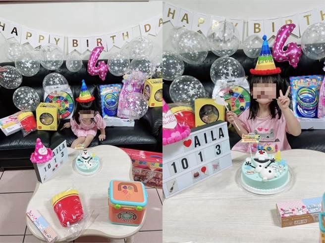 江宏傑昨替女兒慶祝4歲生日。(圖/FB@江宏傑)