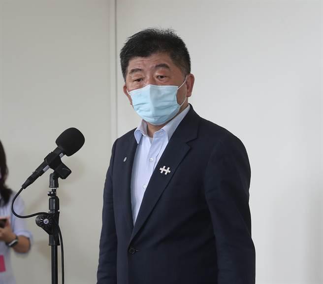 衛福部長陳時中今受訪時表示,我國與默克洽談新冠口服藥採購進度,已接近簽約。(劉宗龍攝)