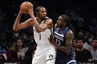 NBA》甩開厄文疫苗陰霾 杜蘭特領軍籃網險勝灰狼