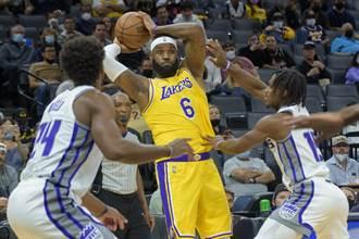 NBA》詹皇賣老命轟30分也沒用 湖人熱身賽6連敗收場