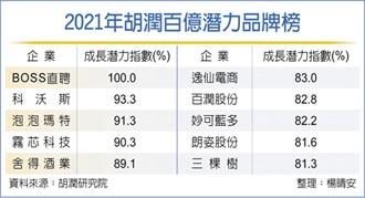 2021胡潤百億潛力品牌榜 陸最具潛力企業 BOSS直聘拔頭籌