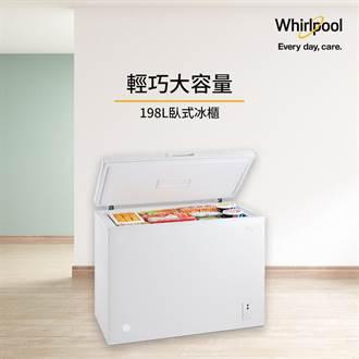 惠而浦周年慶 滿額贈198公升臥式冰櫃