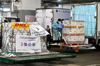 80萬劑復必泰今抵香港 已739萬劑到貨