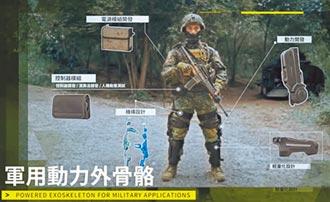 國軍鋼鐵人 野戰型外骨骼系統亮相