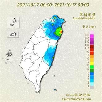 冷鋒發威楊梅清晨18.7度 又濕又涼六地豪大雨特報