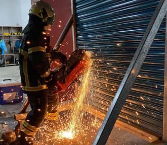 台東關山消防分隊演練 使用關東梯、熱顯像儀