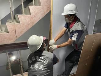 高雄市稽查34棟危樓 市府鐵腕強拆隔牆排除逃生障礙