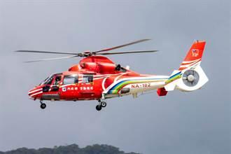 空勤總隊直升機降落松機疑重落地受損 機場關閉15分鐘