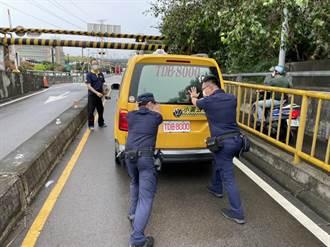 台中計程車拋錨卡地下道 警急速救援 運將鬆口氣