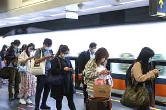 高鐵11/8起每周提供1016班次 同步回復自由座