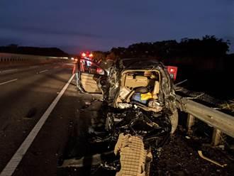 國道3號通霄路段3車追撞 5人受傷送醫