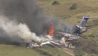 德州私人飛機墜毀 機上21人逃過一劫