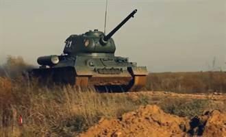 紀念莫斯科保衛戰80周年 經典戰車T-34再次開火