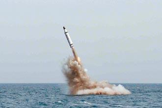 朝鮮射彈 韓軍方研判是潛射飛彈