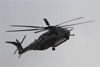 美軍CH-53E直升機迫降沖繩離島 無人員傷亡