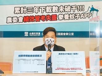 砸2300萬養蚊子APP 農委會挨轟浪費納稅錢