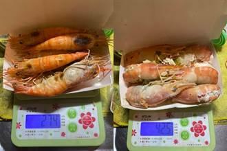 外送2斤泰國蝦要1000元 她一秤重量氣炸:被當盤子