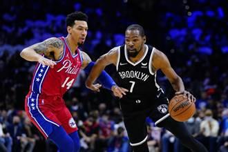 NBA》杜蘭特摘大三元 籃網開胡力挫七六人仍靠艾卓吉
