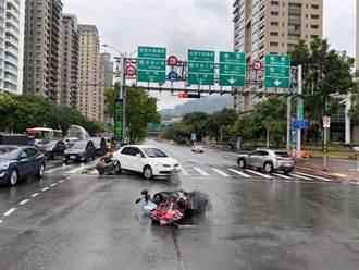 驚悚畫面曝!北市Uber駕駛癲癇發作暴衝 騎士遭撞噴飛