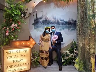 中市戶所結婚牆換新裝  挑選心中「吉霸婚」