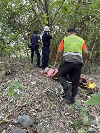 失蹤婦癱軟倒地 員警看到以為粉紅色塑膠袋在動嚇一跳