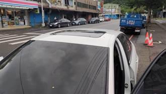 行經蘇花公路遇6.5強震 駕駛慘遭落石擊中車身驚險逃一劫