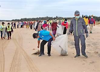 大、小金門同步淨灘 共清出近9噸垃圾