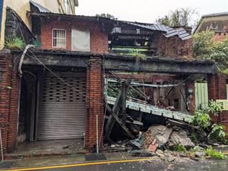 宜蘭6.5有感地震 瑞芳荒廢多年民宅倒塌