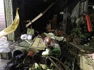 基隆8旬婦煮飯瓦斯突氣爆 鋁窗變形玻璃碎 2傷送醫