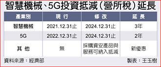 折衷版 智機、5G投資抵減延2~3年