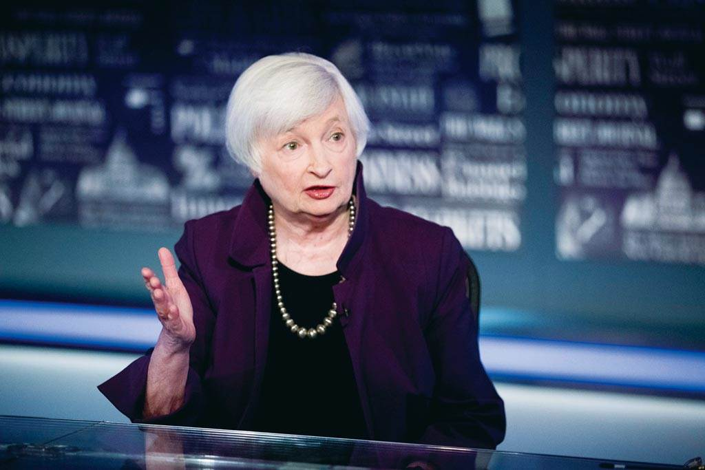 美國財政部長葉倫(Janet Yellen)強調美國通膨未失控。(圖/美聯社)
