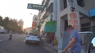 中風男騎車覓食自摔 暖警守護返家