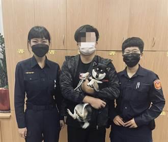 柴犬迷路員警買狗罐頭餵食  狗主人見犬高興擁抱