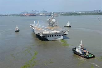 印度自製航艦維克蘭號 進行第2次海試