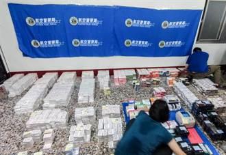 海關航警緝獲劣質電子菸彈 查獲上萬盒非法進口成品