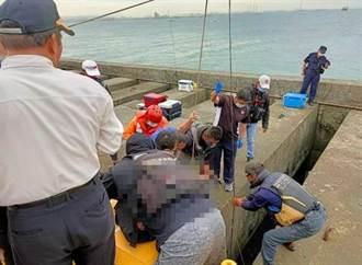 台中港落海意外!釣客頭撞擊水泥塊昏迷不治