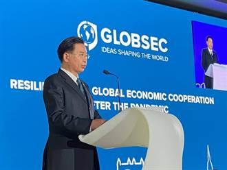 斯洛伐克智庫邀請演說 吳釗燮籲加強貿易投資及產業連結