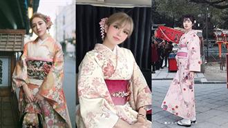 走路飄櫻花!3正妹「和服穿搭」瞬間變溫柔